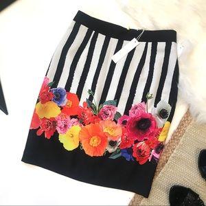 Trina Turk NEW Botany Striped Skirt Size 2